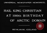 Image of King Christian Reykjavik Iceland, 1930, second 9 stock footage video 65675046568