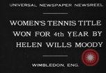 Image of Wimbledon Championship United Kingdom, 1930, second 1 stock footage video 65675046569