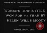 Image of Wimbledon Championship United Kingdom, 1930, second 3 stock footage video 65675046569