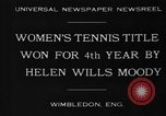 Image of Wimbledon Championship United Kingdom, 1930, second 6 stock footage video 65675046569