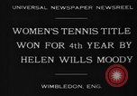 Image of Wimbledon Championship United Kingdom, 1930, second 9 stock footage video 65675046569