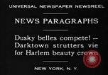 Image of Harlem Beauty Crown New York United States USA, 1930, second 10 stock footage video 65675046570