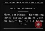 Image of Max Schmeling Berlin Germany, 1930, second 7 stock footage video 65675046572