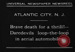 Image of aerial automobile jump Atlantic City New Jersey USA, 1930, second 1 stock footage video 65675046573