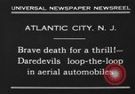 Image of aerial automobile jump Atlantic City New Jersey USA, 1930, second 2 stock footage video 65675046573