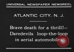 Image of aerial automobile jump Atlantic City New Jersey USA, 1930, second 3 stock footage video 65675046573