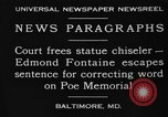 Image of Edmond Fontaine Baltimore Maryland USA, 1930, second 3 stock footage video 65675046581