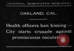 Image of kissing baned Oakland California USA, 1930, second 1 stock footage video 65675046583