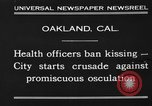 Image of kissing baned Oakland California USA, 1930, second 5 stock footage video 65675046583