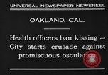Image of kissing baned Oakland California USA, 1930, second 8 stock footage video 65675046583