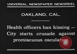 Image of kissing baned Oakland California USA, 1930, second 9 stock footage video 65675046583