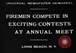 Image of firemen competition Long Beach New York USA, 1930, second 1 stock footage video 65675046585