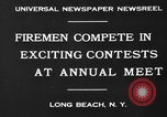Image of firemen competition Long Beach New York USA, 1930, second 2 stock footage video 65675046585