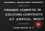 Image of firemen competition Long Beach New York USA, 1930, second 3 stock footage video 65675046585