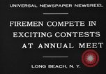 Image of firemen competition Long Beach New York USA, 1930, second 6 stock footage video 65675046585