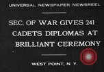 Image of diplomas to cadets West Point New York USA, 1930, second 1 stock footage video 65675046586
