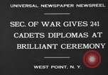 Image of diplomas to cadets West Point New York USA, 1930, second 2 stock footage video 65675046586