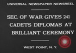 Image of diplomas to cadets West Point New York USA, 1930, second 4 stock footage video 65675046586