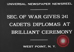 Image of diplomas to cadets West Point New York USA, 1930, second 6 stock footage video 65675046586