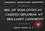 Image of diplomas to cadets West Point New York USA, 1930, second 7 stock footage video 65675046586