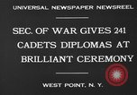 Image of diplomas to cadets West Point New York USA, 1930, second 9 stock footage video 65675046586