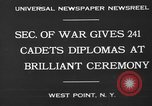 Image of diplomas to cadets West Point New York USA, 1930, second 10 stock footage video 65675046586