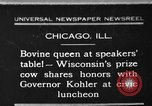 Image of Wisconsin prize cow Chicago Illinois USA, 1930, second 1 stock footage video 65675046587