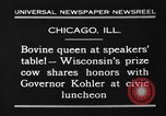 Image of Wisconsin prize cow Chicago Illinois USA, 1930, second 3 stock footage video 65675046587