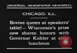 Image of Wisconsin prize cow Chicago Illinois USA, 1930, second 4 stock footage video 65675046587