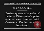 Image of Wisconsin prize cow Chicago Illinois USA, 1930, second 7 stock footage video 65675046587