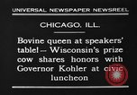 Image of Wisconsin prize cow Chicago Illinois USA, 1930, second 11 stock footage video 65675046587