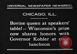 Image of Wisconsin prize cow Chicago Illinois USA, 1930, second 12 stock footage video 65675046587