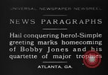Image of Bobby Jones Atlanta Georgia USA, 1930, second 1 stock footage video 65675046592