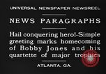 Image of Bobby Jones Atlanta Georgia USA, 1930, second 8 stock footage video 65675046592