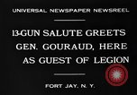 Image of General Henri Gouraud Fort Jay New York USA, 1930, second 8 stock footage video 65675046593