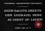Image of General Henri Gouraud Fort Jay New York USA, 1930, second 9 stock footage video 65675046593
