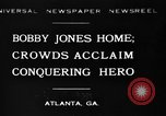 Image of Bobby Jones Atlanta Georgia USA, 1930, second 1 stock footage video 65675046595