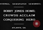 Image of Bobby Jones Atlanta Georgia USA, 1930, second 4 stock footage video 65675046595