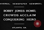 Image of Bobby Jones Atlanta Georgia USA, 1930, second 7 stock footage video 65675046595