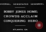 Image of Bobby Jones Atlanta Georgia USA, 1930, second 8 stock footage video 65675046595