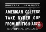Image of Ryder Cup Championship Southport England, 1937, second 1 stock footage video 65675046597