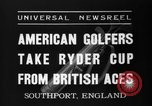 Image of Ryder Cup Championship Southport England, 1937, second 3 stock footage video 65675046597