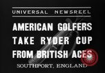 Image of Ryder Cup Championship Southport England, 1937, second 6 stock footage video 65675046597