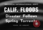 Image of flood California United States USA, 1958, second 1 stock footage video 65675046598
