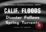 Image of flood California United States USA, 1958, second 2 stock footage video 65675046598