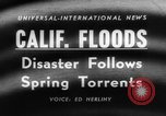 Image of flood California United States USA, 1958, second 5 stock footage video 65675046598