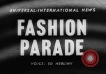 Image of fashion parade Toronto Ontario Canada, 1958, second 1 stock footage video 65675046601