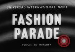 Image of fashion parade Toronto Ontario Canada, 1958, second 2 stock footage video 65675046601