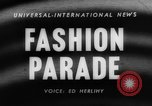 Image of fashion parade Toronto Ontario Canada, 1958, second 4 stock footage video 65675046601