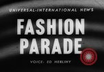 Image of fashion parade Toronto Ontario Canada, 1958, second 5 stock footage video 65675046601